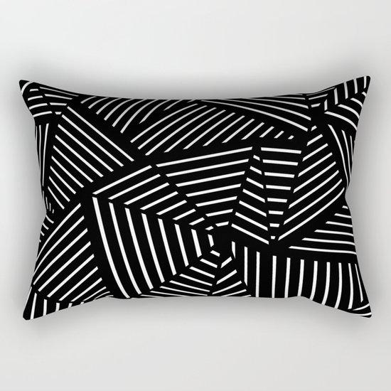 Ab Linear Zoom Black Rectangular Pillow