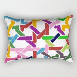 Paths of colors Rectangular Pillow