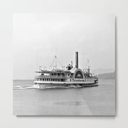 Ticonderoga Side Wheeler Steamboat Metal Print