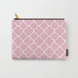 Quatrefoil Shape (Quatrefoil Tiles) - Pink White Carry-All Pouch