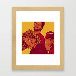 Yellow LANY Framed Art Print