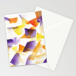 180719 Koh-I-Noor Watercolour Abstract 24| Watercolor Brush Strokes Stationery Cards