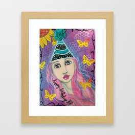 Happy Birthday KIF Girl Framed Art Print