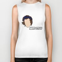 harry styles Biker Tanks featuring HARRY STYLES by SaladInTheWind