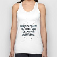 pain Tank Tops featuring Pain by fariedesign