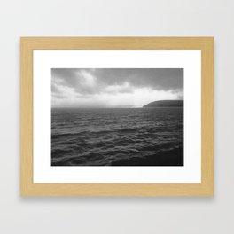 Carmarthen Bay vision Framed Art Print