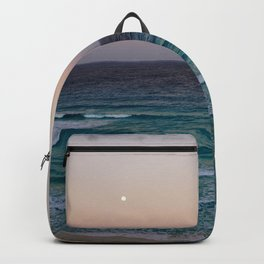 Beach and sky at sunset time Backpack