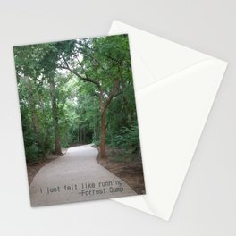 I just felt like running. Stationery Cards