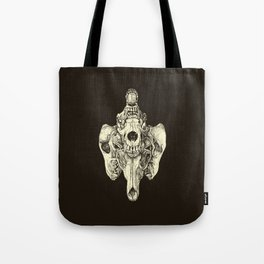 Coyote Skulls - Black and White Tote Bag