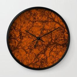Mango Orange Hunting Camo Pattern Wall Clock