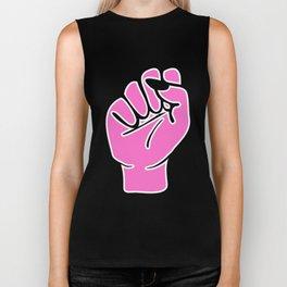 Pink female fist Biker Tank