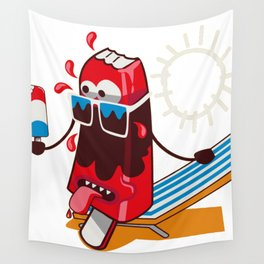 Tanning Popsicle Wall Tapestry