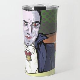Dracula enjoying a bloody mary at Applebee's. Travel Mug