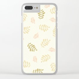 Falling Leaves – Neutrals Clear iPhone Case