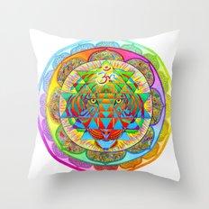 Inner Strength Sri Yantra Mandala Throw Pillow