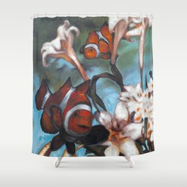 Clown Lillies Shower Curtain