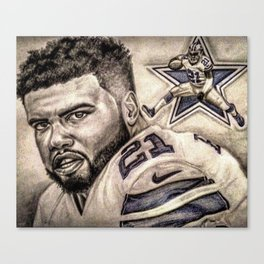 Zeke Elliott Canvas Print