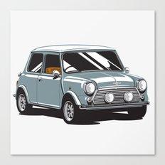 Mini Cooper Car - Gray Canvas Print