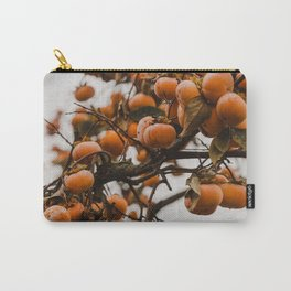 Autumn persimmons on a tree and ready to be picked for the kitchen Carry-All Pouch