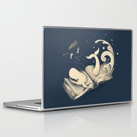 moby Laptop & iPad Skins featuring Moby Dick by Enkel Dika