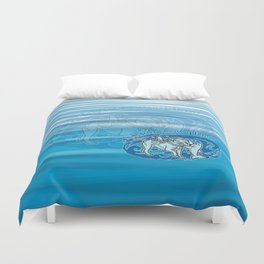 Lexy & Bruce - Swim beyond misconceptions! Duvet Cover