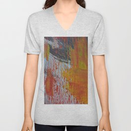 Abstract Paint Swipes Unisex V-Neck