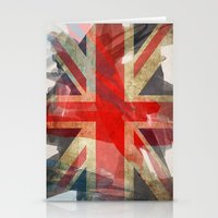 union jack Stationery Cards featuring Union Jack by Honeydripp Designs