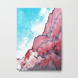 The Misty Mountains Metal Print