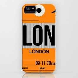 LON London Luggage Tag 1 iPhone Case