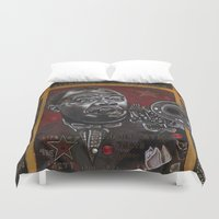louis armstrong Duvet Covers featuring Louis Armstrong by Ray Stephenson