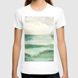Emerald Sea Watercolor Print T-shirt