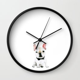 Little Gentleman French Buldog Wall Clock