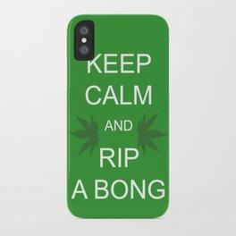 Keep Calm and Rip a Bong iPhone Case