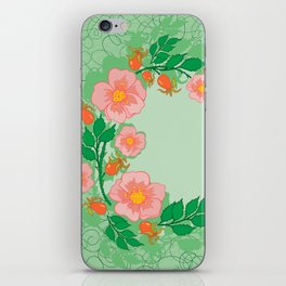 Abstract roses frame iPhone Skin
