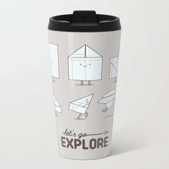 Let's go explore Metal Travel Mug