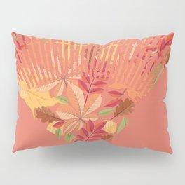 Autumn fallen leaves with rake design illustration Pillow Sham