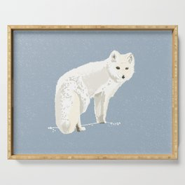Save the Arctic fox Serving Tray