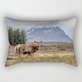 Wild red stag in the highlands, Scotland Rectangular Pillow