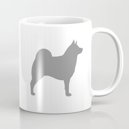Grey Norwegian Elkhound Silhouette Coffee Mug