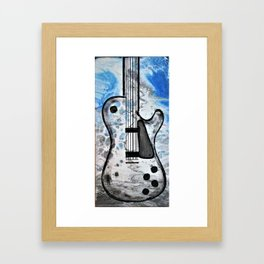 Guitar Art. Featured on back cover of The Music and Art of Black Cat Records. Framed Art Print