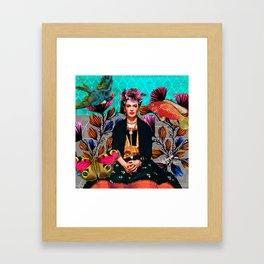 Frida´s secret smile Framed Art Print