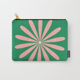 Big Daisy Retro Minimalism in Pink and Bright Green Carry-All Pouch