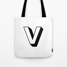 Letter V ... As Easy As ... Tote Bag
