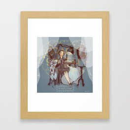 Spam Illustrated: Gracie Smith Has Everything Arranged Framed Art Print