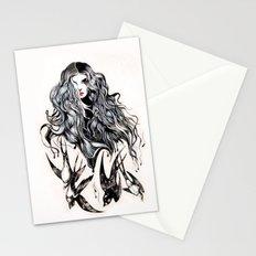 Woman & birds  Stationery Cards