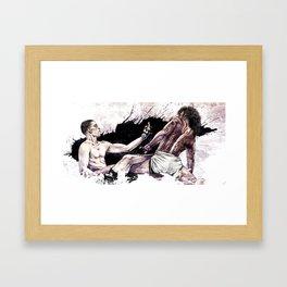 Nate Diaz vs. Benson Henderson Framed Art Print