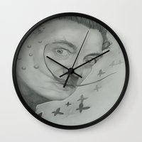 salvador dali Wall Clocks featuring Salvador Dali  by KennethShaw