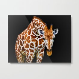 Graffic Giraffe Metal Print
