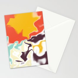 Liquid shapes 5 Stationery Cards