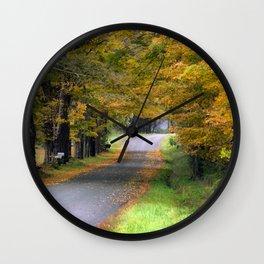 Autumn Journey Wall Clock
